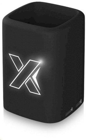 Kutijica za olovke,sa usb punjačem ,sa svijetlećim logom, tipom C,crna