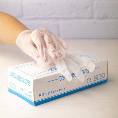 Zaštitne jednokratne rukavice od vinila  L
