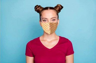 Periva dvoslojna maska lice s full color tiskom