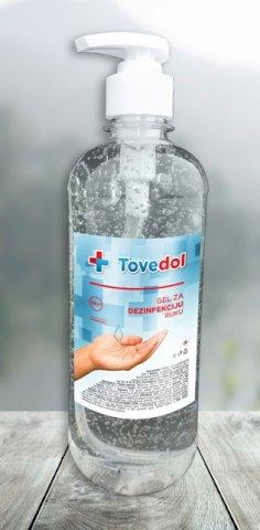 Gel 500 ml  TOVEDOL za dezinfekciju ruku, pumpica