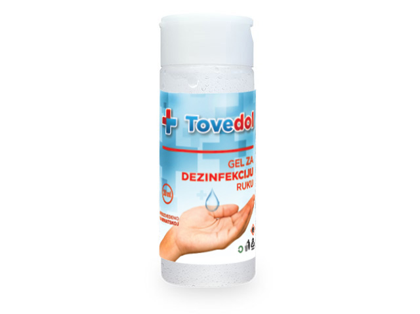 Gel 30 ml TOVEDOL za dezinfekciju ruku , 30 ml.
