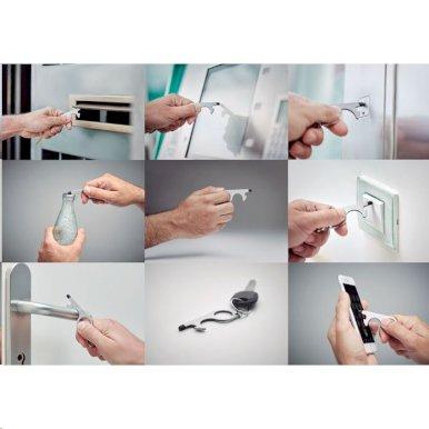Privjesak-otvarač boca, higijenski, beskontaktni, metal