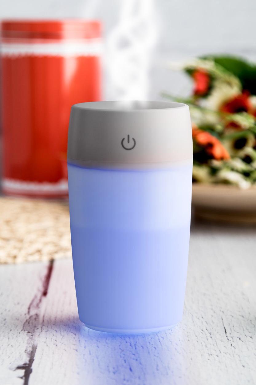 Ovlaživač zraka USB s plavim svjetlom, 300 ml