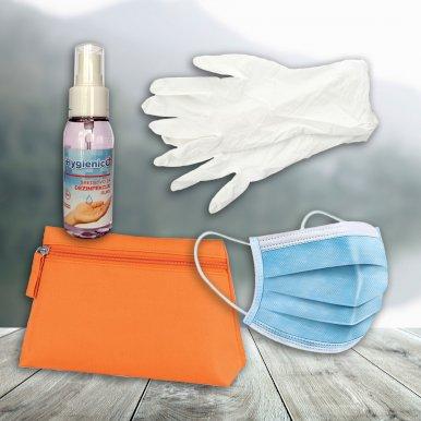 Higijenski set Protecto 2 ( 10 maski, par rukavica, sprej za dezinfekciju)