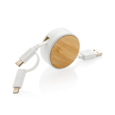 Kabel Ontario za napajanje-privjesak  3 u 1 ,tip C, bijeli