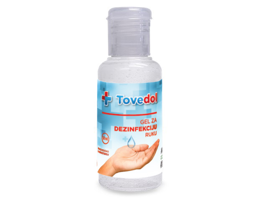 Gel 50 ml TOVEDOL  za dezinfekciju ruku , 50 ml.