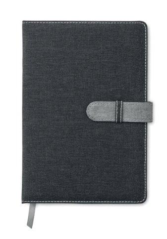 Rokovnik A5 s  linijama, 80 stranica, crni