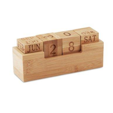 Kalendar od bambusa,stolni, natur