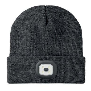 Kapa pletena s Cob svjetlom , bijelo crna