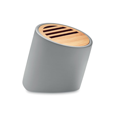 Zvučnik, Bluetooth,450mAh, bamus, sivi