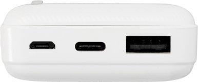 Powerbank 10000 mAh, LED indikator za stanje punjenja i preostalog kapaciteta, bijeli