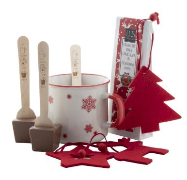 Poklon set Bruges - s vrućom čokoladom,šalica, set ukrasa za bor