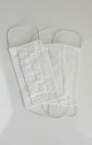 Maska za lice dvoslojna periva  pamučna, bijela