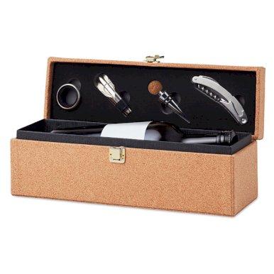 Kutija za vino, pluto s pripadajućim priborom
