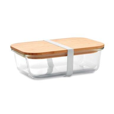 Kutija za hranu,staklena,bambus poklopcem,900ml