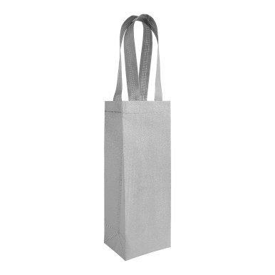 Poklon vrećica za vino,  gliter  srebrna