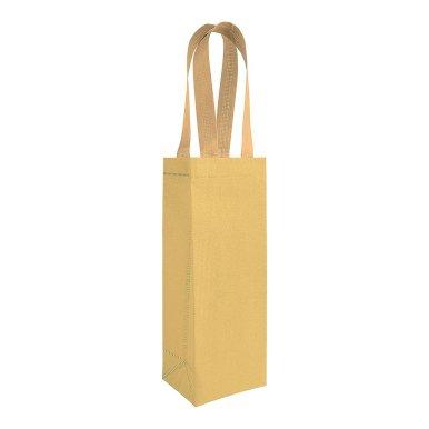 Poklon vrećica za bocu, gliter zlatna