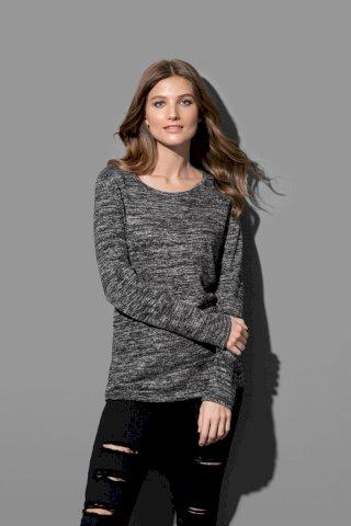 Majica pletena dugi rukav ženska,210g,umjetna tkanina