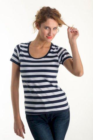 Majica, KR, Euro wear ženska, mornarska 100 % pamuk
