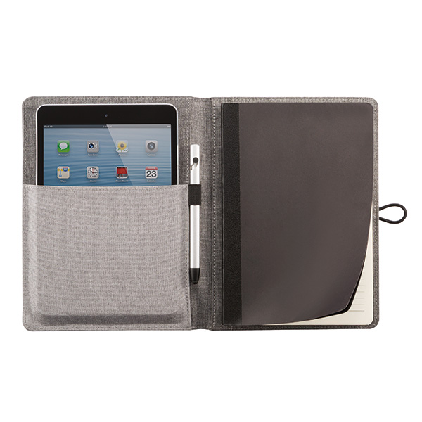 Notes,Kyoto, s džepićem za mobitel i tablet. sivi s tiskom