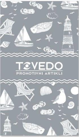 Ručnik za plažu 100x170 cm., dizajniran po mjeri 520g, Tovedo