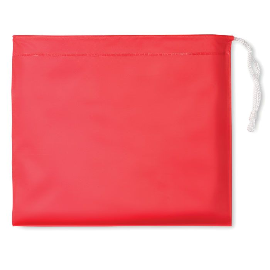 Kabanica poncho, crvena