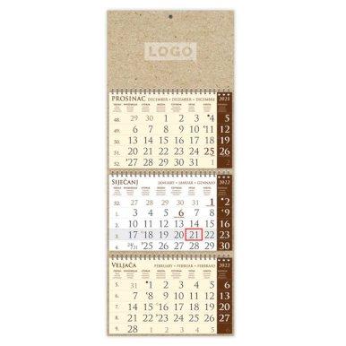 Kalendar trodijelni, ECO, 25x65cm, s pokazivačem