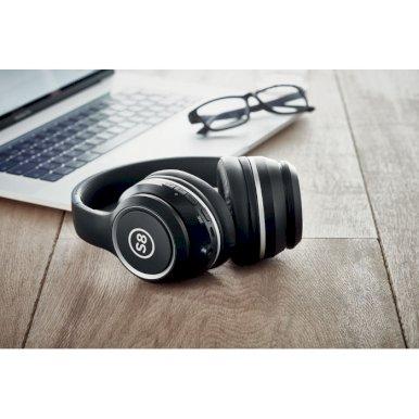 Slušalice, bežićne, sklopive, hands free i mikrofon, u etuiju, crne