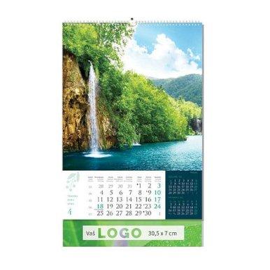 Kalendar Priroda, 30,5x50 cm, 13 listova, PVC vrećica