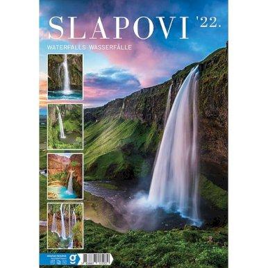 Kalendar Slapovi, 24x54 cm, 13 listova, PVC vrećica